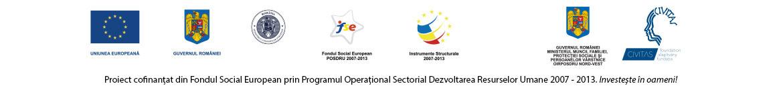 Proiect cofinantat din Fondul Social European prin Programul Operational Sectorial Dezvoltarea Resurselor Umane 2007 - 2013. Investeste in oameni!